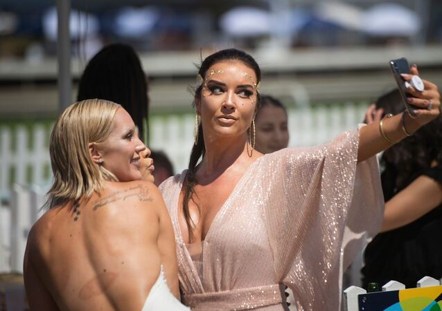A Group of Friends Pose for a Sefie in Cape Town