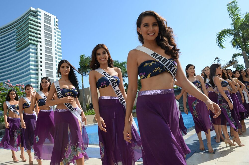 Candidate Competing to be Crowned Miss Philippines in Manila