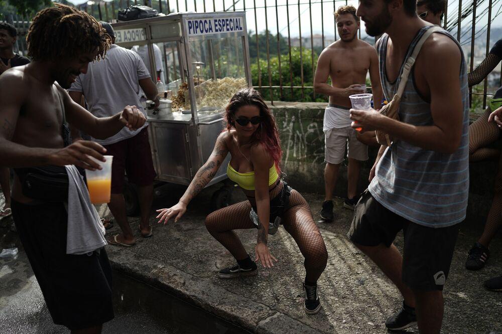 A Girl Dances During Carnival in Rio de Janeiro