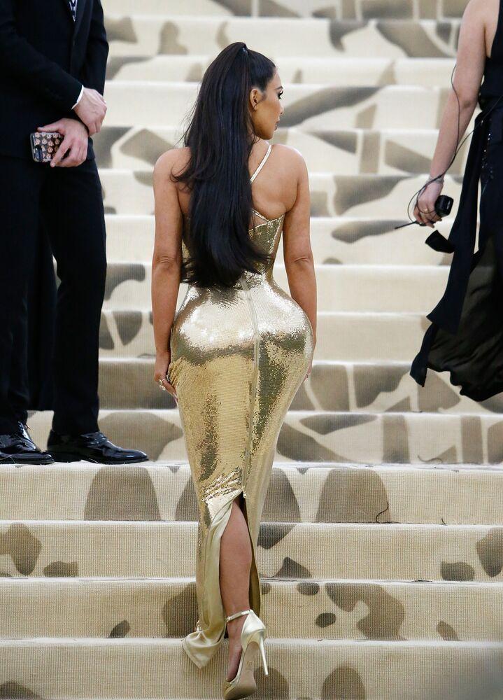 Kim Kardashian West Attends Heavenly Bodies: Fashion & The Catholic Imagination Costume Institute Gala