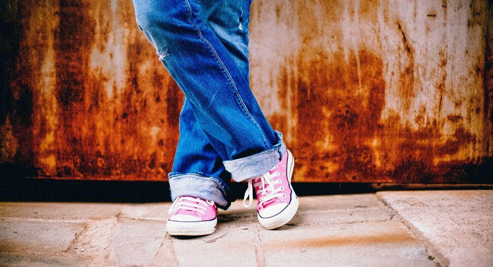 Legs crossed, shoes