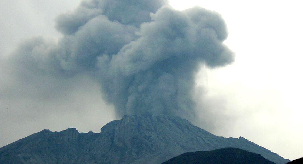The  Ubinas Volcano  760 kilometers (470 miles) southeast of the capital of Lima, Peru