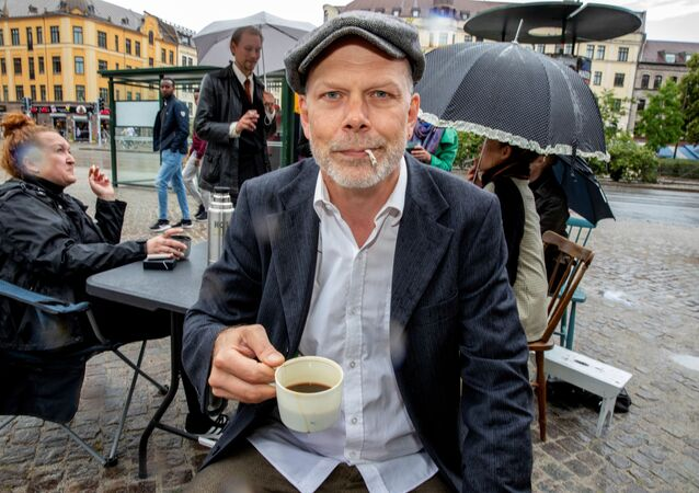 Niklas Qvarnstrom, who started a Facebook group against an outdoor smoking ban, poses for a photo in Malmo, Sweden July 1, 2019