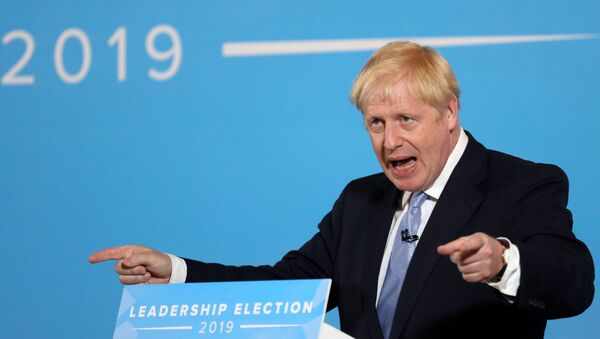 Boris Johnson, a leadership candidate for Britain's Conservative Party, speaks during a hustings event in Belfast, Northern Ireland, July 2, 2019 - Sputnik International
