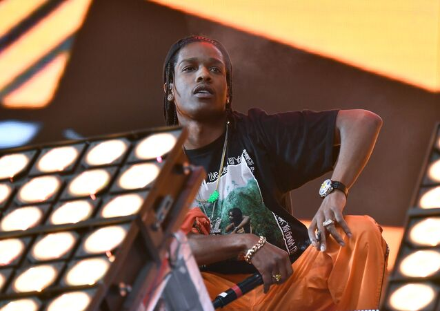 INDIO, CA - APRIL 23: ASAP Rocky performs in the Sahara Tent with Lil Uzi Vert during day 3 (Weekend 2) of the 2017 Coachella Valley Music & Arts Festival (Weekend 2) at the Empire Polo Club on April 23, 2017 in Indio, California.