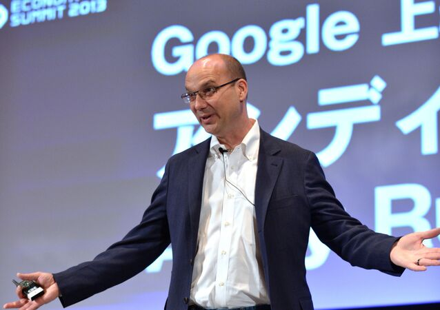 Andy Rubin, Google senior vice president speaks at a conference of the New Economy Summit 2013 in Tokyo on April 16, 2013.