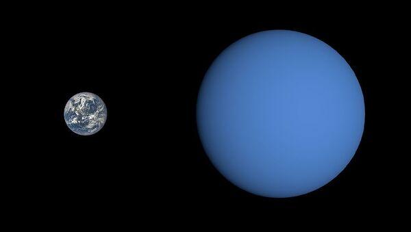 Size comparison of Gliese 3470 b with Earth  - Sputnik International