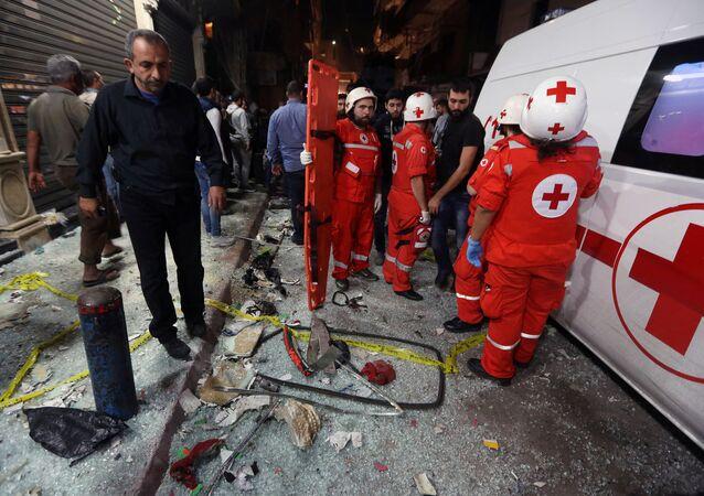 Lebanese Red Cross responders (File)