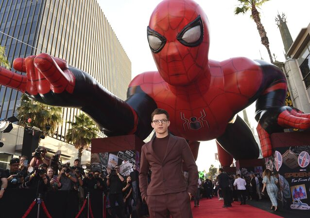 Tom Holland arrives at the world premiere of Spider-Man: Far From Home on Wednesday, June 26, 2019, at the TCL Chinese Theatre in Los Angeles