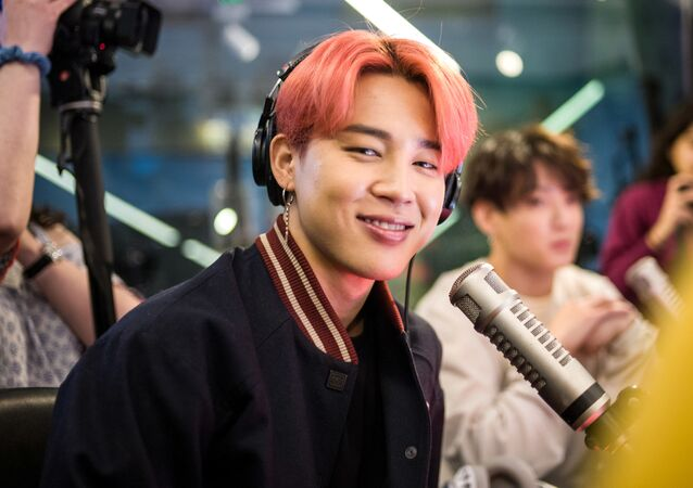 Jimin and Jungkook of BTS visit The Elvis Duran Z100 Morning Show at Z100 Studio on April 12, 2019 in New York City.   Steve Ferdman/Getty Images for Elvis Duran