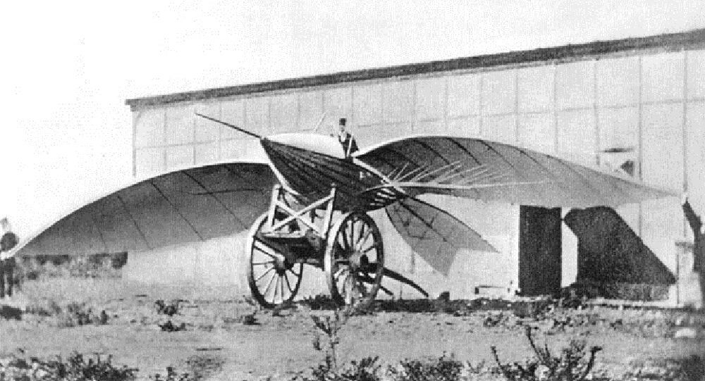 Jean-Marie Le Bris and his flying machine, Albatros II, 1868