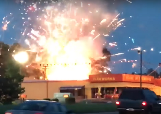 Fire Sale? US Fireworks Store Goes Up in Flames