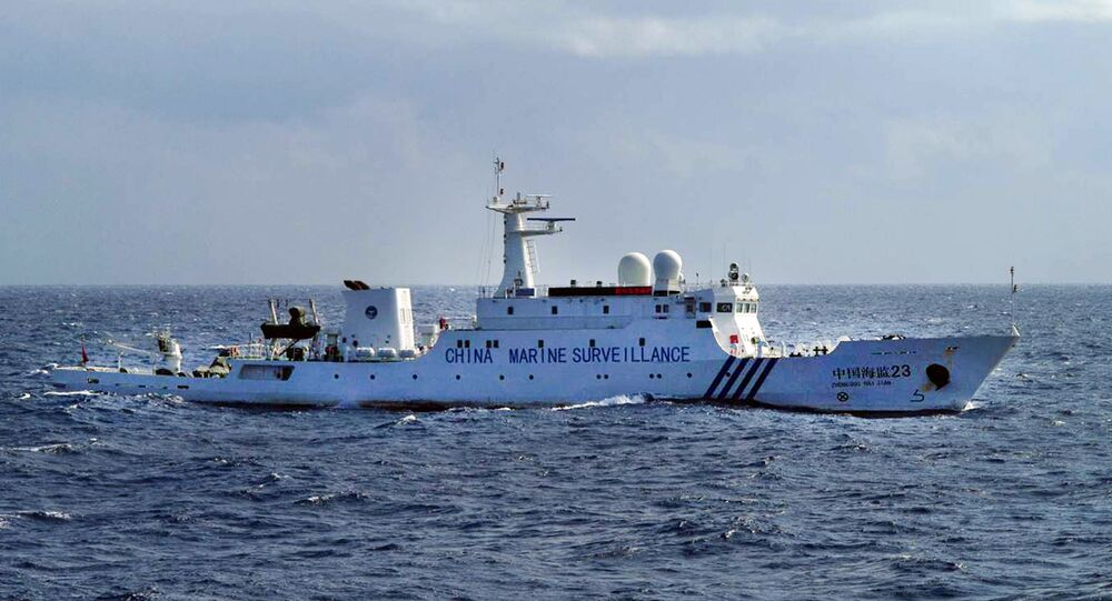 This handout picture taken by the Japan Coast Guard on January 19, 2013 shows a Chinese Marine Surveillance ship cruising inside waters around the disputed islands known as the Senkaku islands in Japan and the Diaoyu islands in China, in the East China Sea.