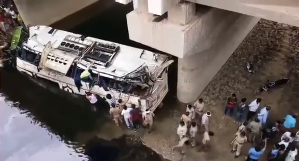 A tragic accident in Uttar Pradesh, occured on 8 July, 2019. A Delhi-bound bus fell into a canal.