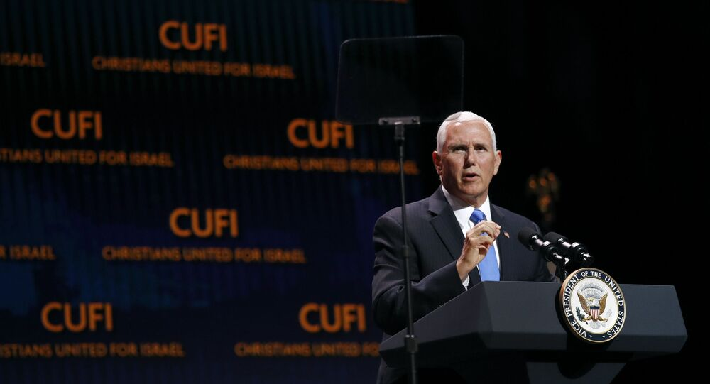 Vice President Mike Pence speaks at the Christians United for Israel's annual summit
