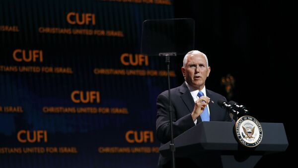 Vice President Mike Pence speaks at the Christians United for Israel's annual summit - Sputnik International