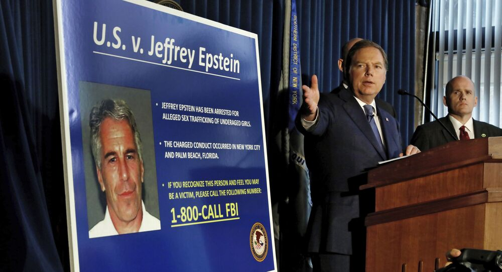United States Attorney for the Southern District of New York Geoffrey Berman speaks during a news conference, in New York, Monday, July 8, 2019. Federal prosecutors announced sex trafficking and conspiracy charges against wealthy financier Jeffrey Epstein. Court documents unsealed Monday show Epstein is charged with creating and maintaining a network that allowed him to sexually exploit and abuse dozens of underage girls.