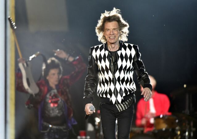 Ron Wood, left, and Mick Jagger, of the Rolling Stones perform during the No Filter tour at Soldier Field on Friday, June 21, 2019, in Chicago