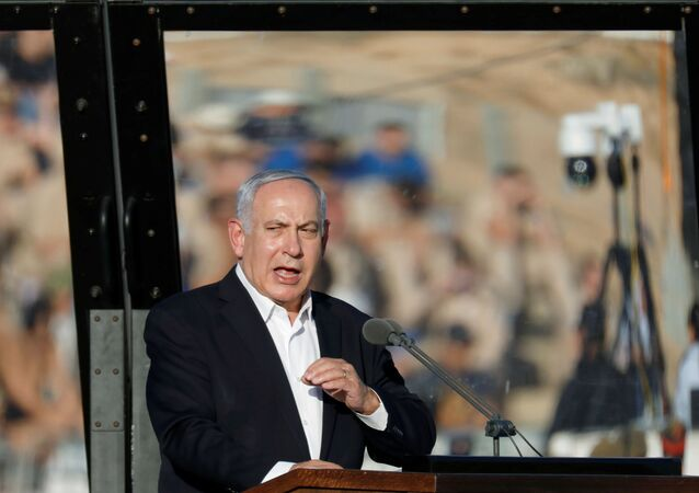 Israeli Prime Minister Benjamin Netanyahu speaks at the Israeli Air Force pilots' graduation ceremony at Hatzerim air base in southern Israel June 27, 2019