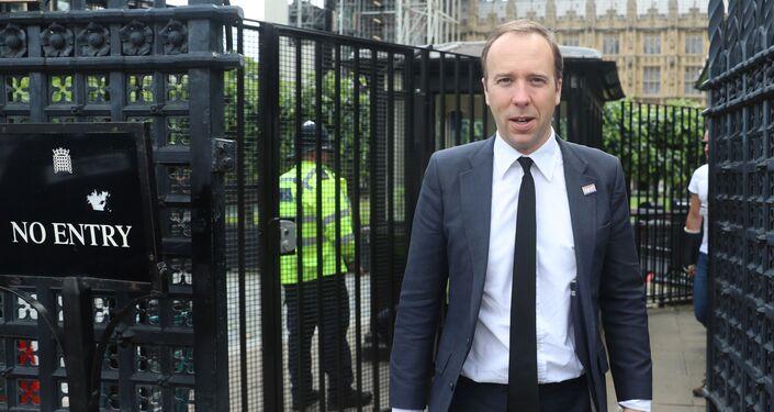 Britain's Health Secretary Matt Hancock is seen near the Houses of Parliament in London, Britain June 20, 2019