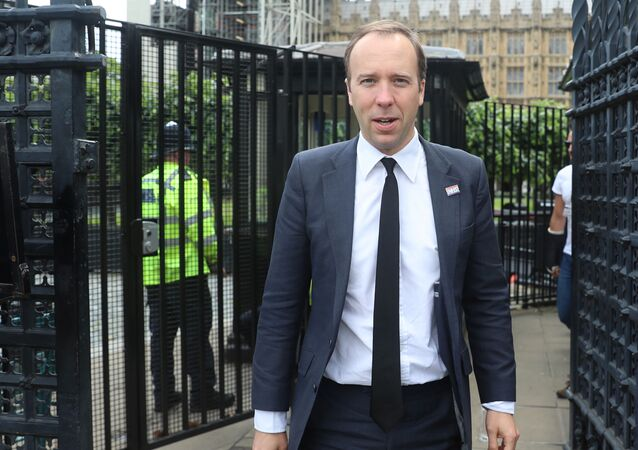 Britain's Health Secretary Matt Hancock is seen near the Houses of Parliament in London, Britain June 20, 2019