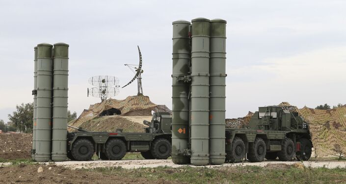 Russian S-400 long-range air defense missile systems