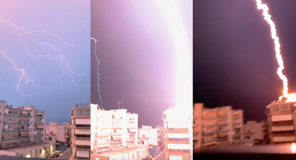 Lightning or Artillery Strike? Deadly Greece Storm Produces Deafening Thunderbolt