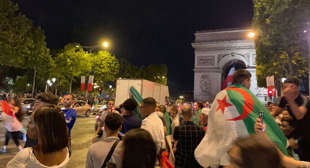Fans took to the streets of Paris after Algerian national football team won their way into 2019 Africa Cup of Nations final