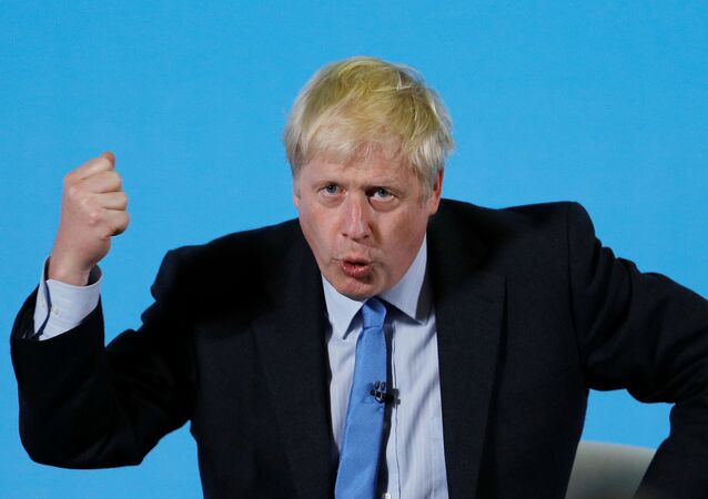 Boris Johnson, a leadership candidate for Britain's Conservative Party, attends a hustings event in Colchester, Britain July 13, 2019