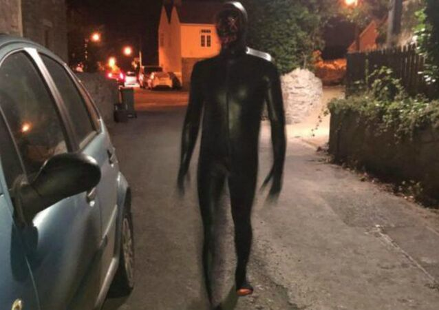 Man dressed in a gimp suit terrorising the Somerset village of Claverham
