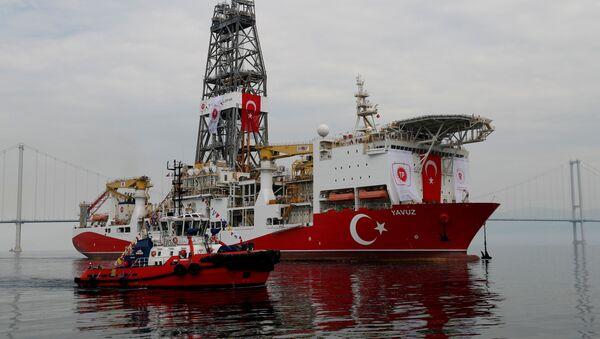 Turkish drilling vessel Yavuz - Sputnik International