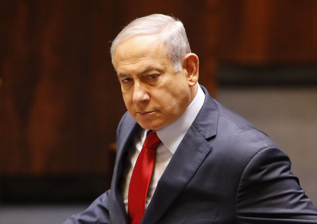 Israeli Prime Minister Benjamin Netanyahu before voting in the Knesset, Israel's parliament in Jerusalem, Wednesday, 29 May 2019