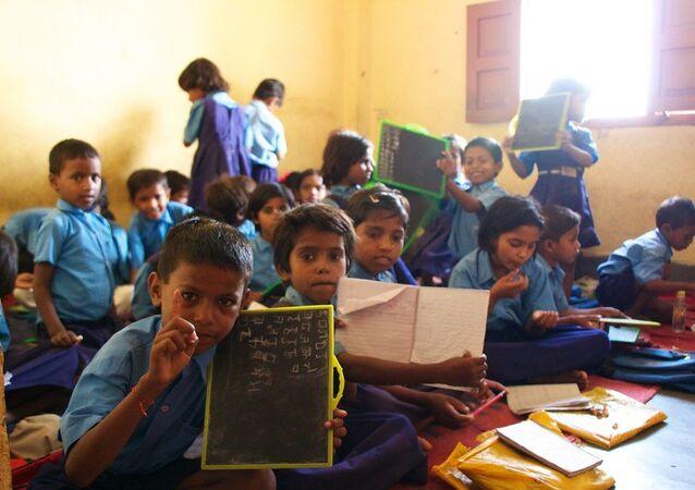 Indian children at school