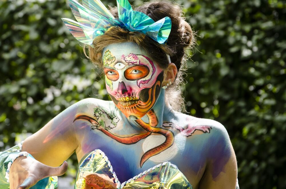 The Art Of Amazing People World Bodypainting Festival In Austria Sputnik International
