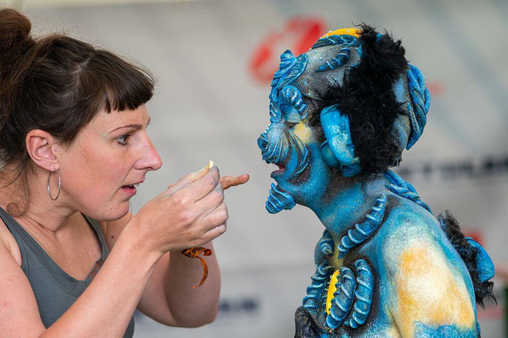 The Art Of Amazing People World Bodypainting Festival In Austria Sputnik International