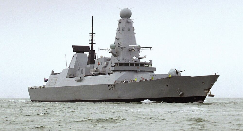 "HMS Duncan, a Type 45 Destroyer, which will relieve HMS Montrose in the region as Iran threatens to disrupt shipping. Iran on Friday, July 12, 2019 demanded the British navy release an Iranian oil tanker seized last week off Gibraltar, accusing London of playing a ""dangerous game"" and threatening retribution"