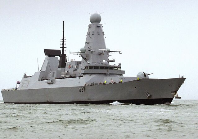 "HMS Duncan, a Type 45 Destroyer, which will relieve HMS Montrose in the region as Iran threatens to disrupt shipping. Iran on 12 July 2019 demanded the British navy release an Iranian oil tanker seized off Gibraltar, accusing London of playing a ""dangerous game"" and threatening retribution"