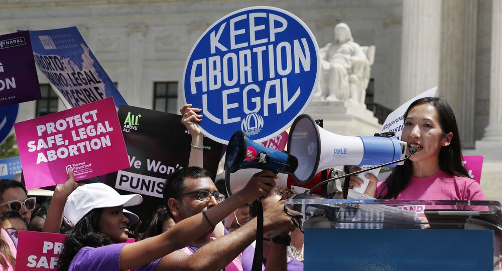 President of Planned Parenthood Leana Wen speaks during a protest against abortion bans