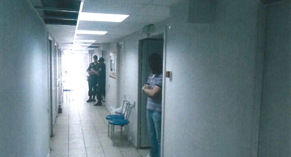 Secret prison at the airport of Mariupol