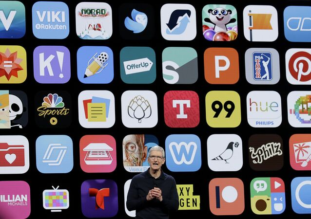 Apple CEO Tim Cook speaks during an announcement of new products at the Apple Worldwide Developers Conference in San Jose, Calif.