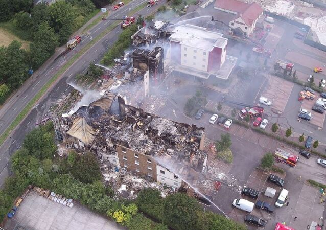 Premier Inn destroyed after huge fire