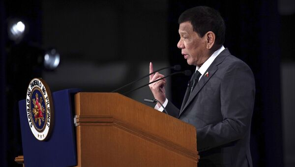Philippine President Rodrigo Duterte delivers a speech at the special session of the International Conference on The Future of Asia Friday, May 31, 2019, in Tokyo - Sputnik International