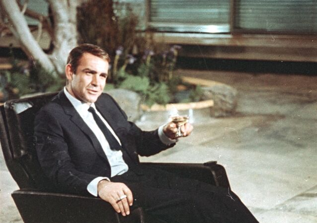 Actor Sean Connery is shown during filming the James Bond movie You Only Live Twice,