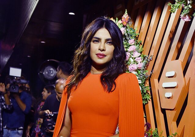 Indian actress Priyanka Chopra Jonas poses for a picture during the launch event of Bumble, a social and dating application, in Mumbai late on June 13, 2019