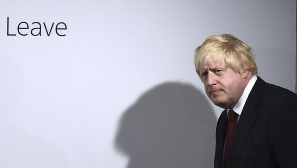 FILE - In this Friday, June 24, 2016 file photo, Vote Leave campaigner Boris Johnson arrives for a press conference at Vote Leave headquarters in London - Sputnik International