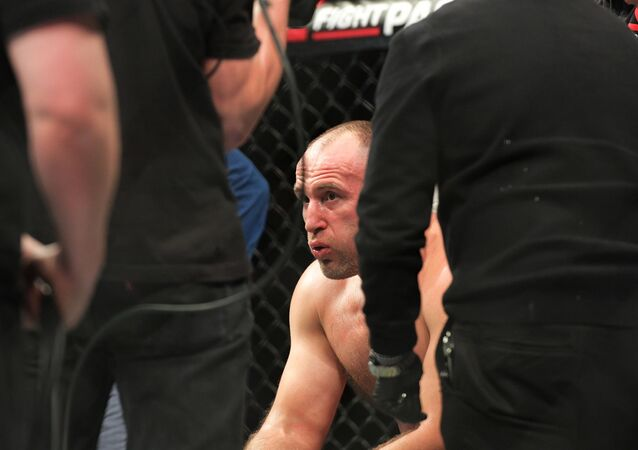 Alexey Oleynik following the fight with Alistair Overeem