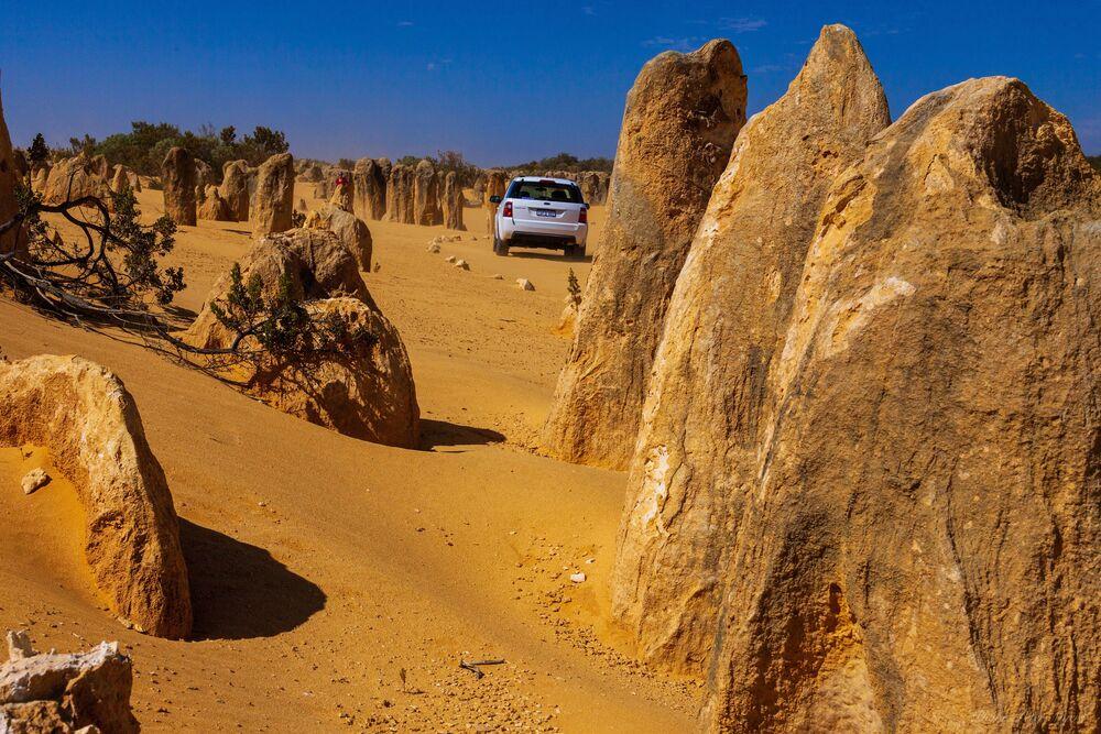 The Pinnacles limestone formation in Australia.