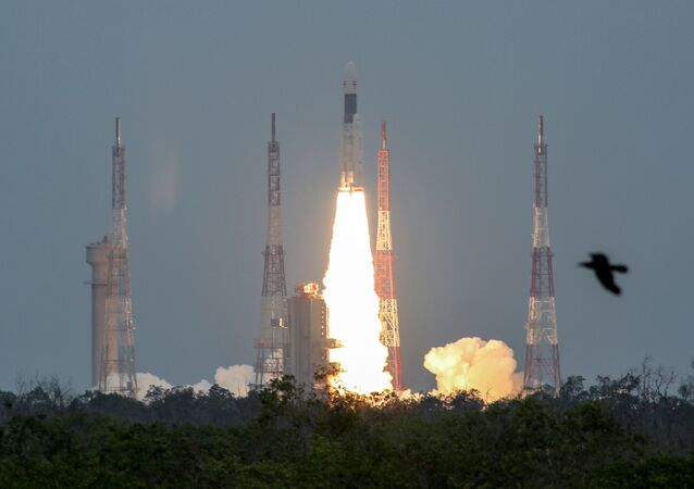 India's Geosynchronous Satellite Launch Vehicle Mk III-M1 blasts off carrying Chandrayaan-2, from the Satish Dhawan Space Centre at Sriharikota, India, July 22, 2019