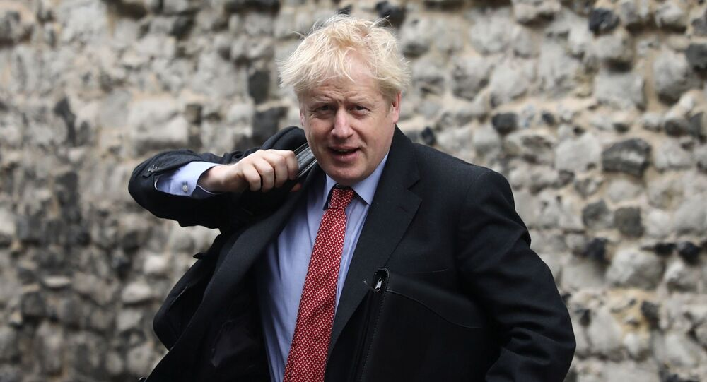 Boris Johnson, a leadership candidate for Britain's Conservative Party, arrives at offices in central in London, Britain, July 19, 2019