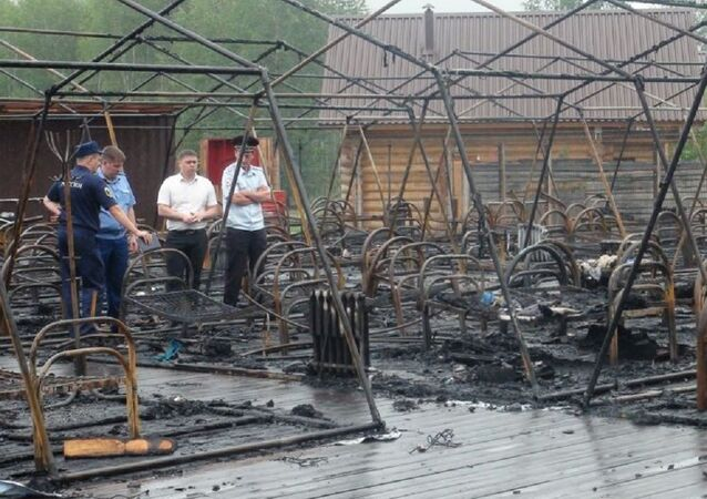 The fire in the tent town in Khabarovsk Krai